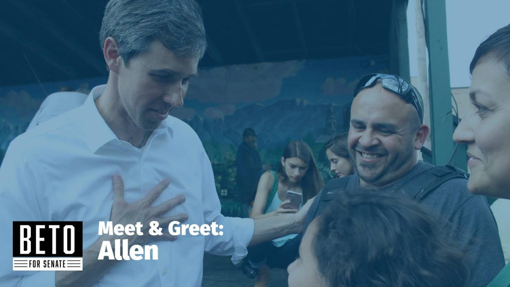 Beto O'Rourke is coming to Allen Friday!