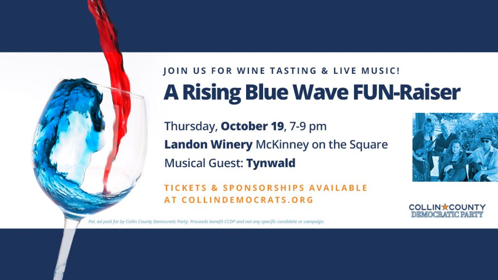 Rising Blue Wave FUN-raiser and Wine Tasting