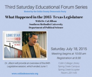 Third Saturday Educational Forum for July