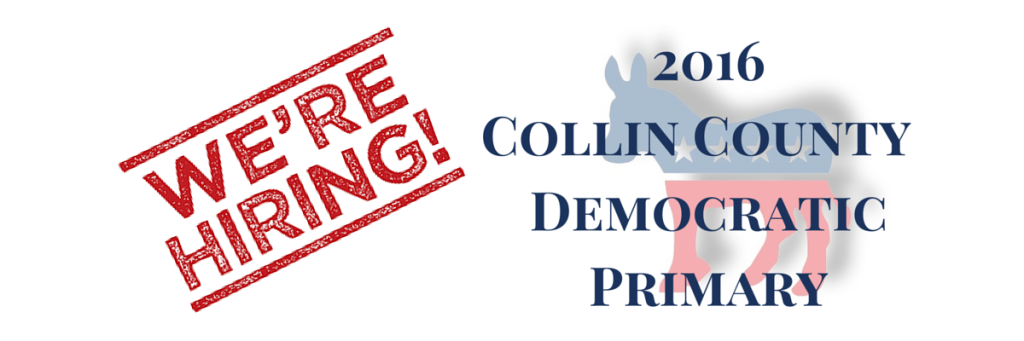 The CCDP is HIRING for the 2016 Primary!