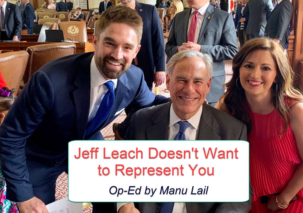 Jeff Leach doesn't represent you