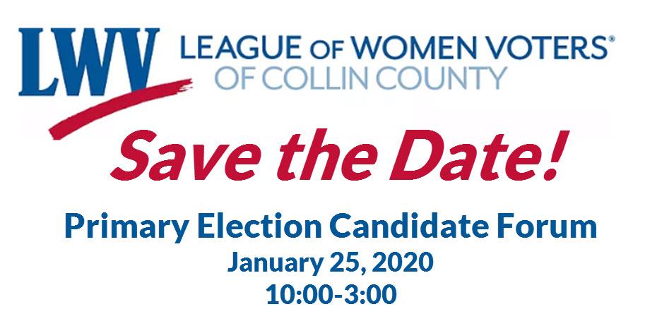 LWV Candidate Forum - January 25, 2020