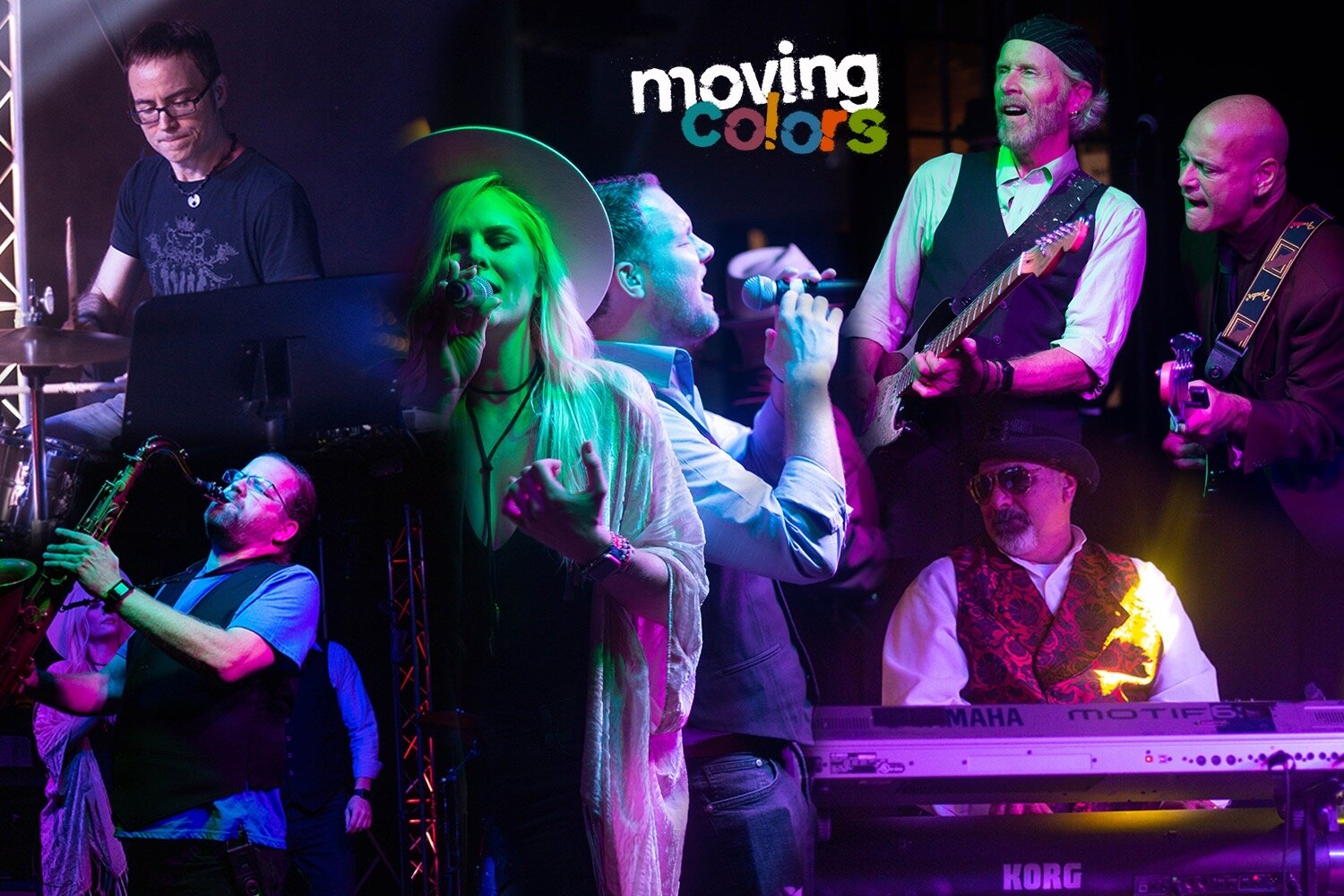 Moving Colors Band - Montage of people performing with instruments and singing