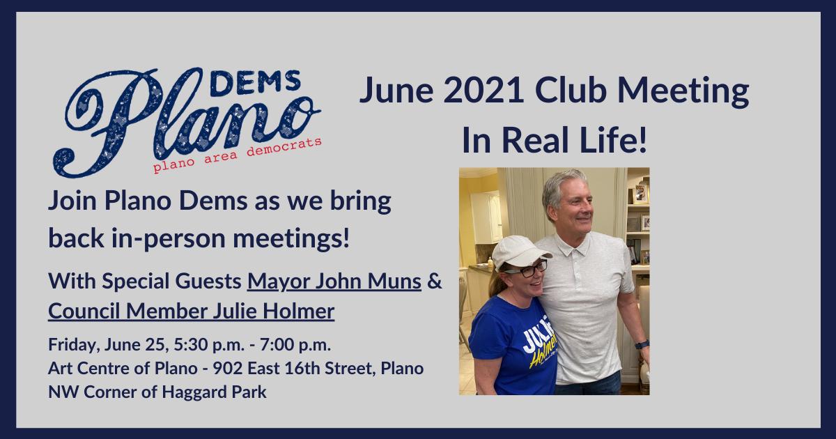 Plano Area Democrats Club Meeting June 25, 20201