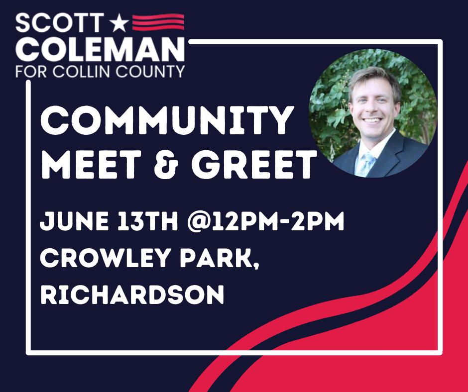 Scott Coleman Community Meet and Greet