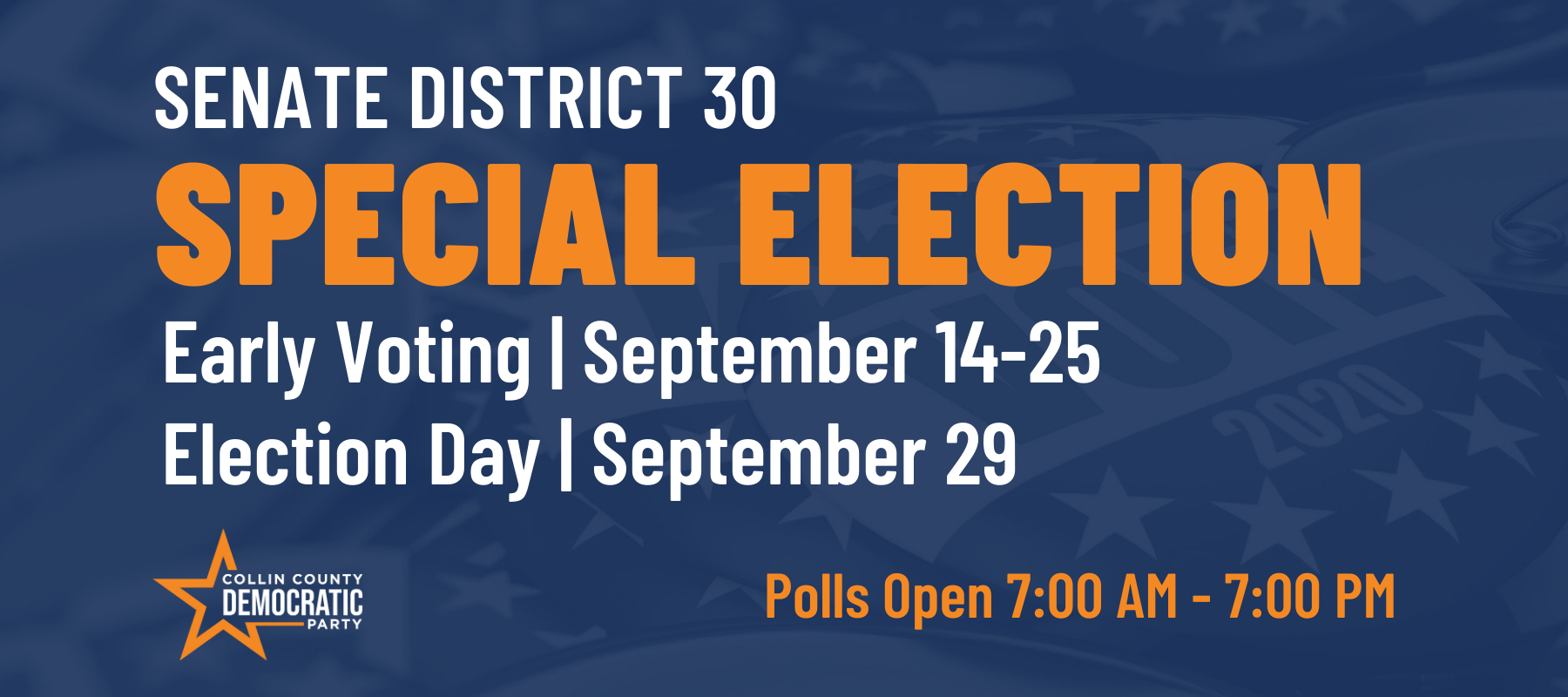 Click for Special Election Sep 29, 2020