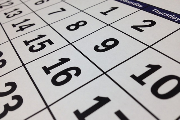 Calendar (Image by tigerlily713 from Pixabay)