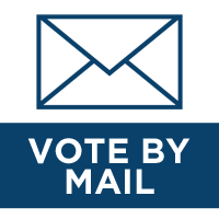 White image with envelope and Vote By Mail