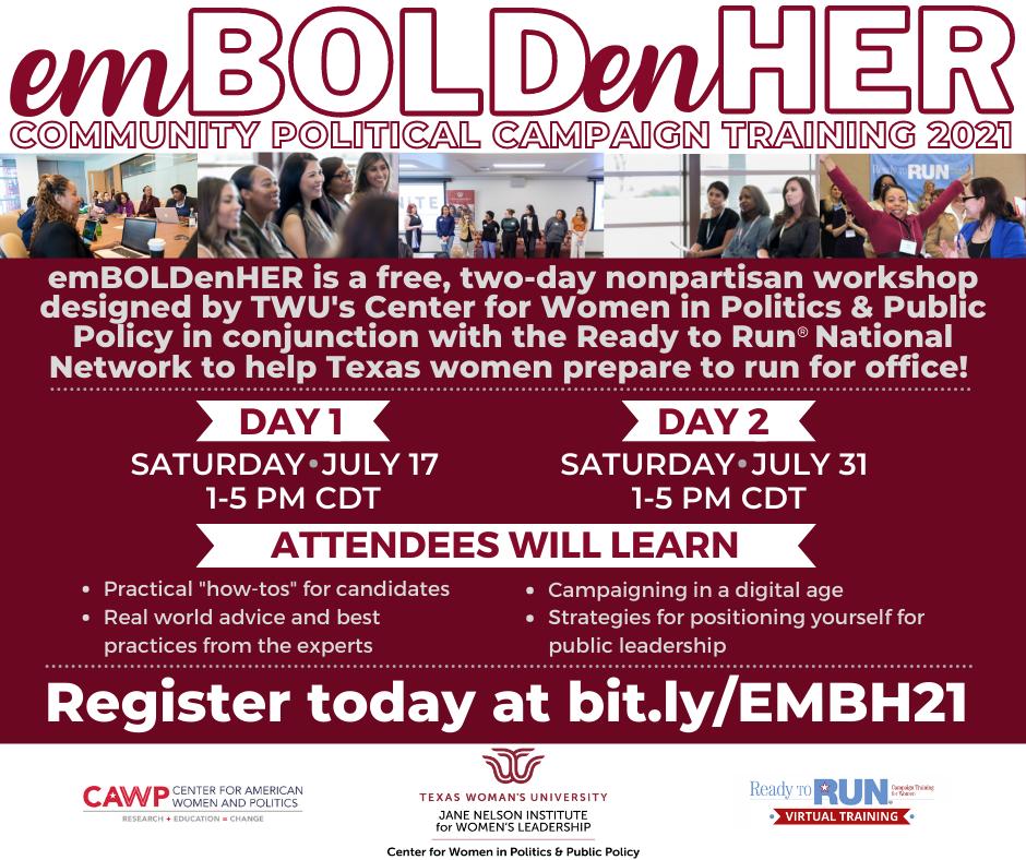 EmboldenHER Community Political Action Training 2021
